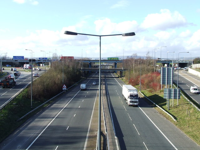 Junction 18 of the M60/M62 at Simister .