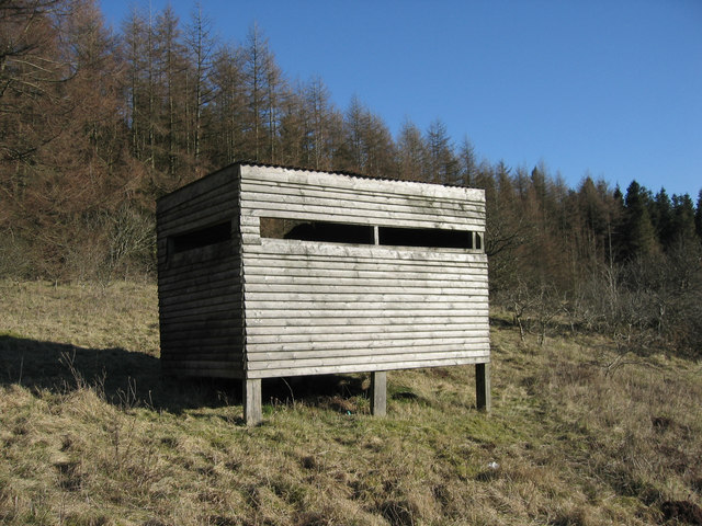 Bird hide, Usk reservoir