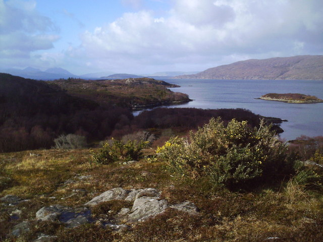 View North  West to Skye  from Carne an Duine, Plockton