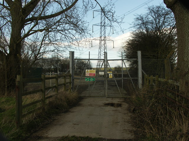 Entrance to Sewage works.