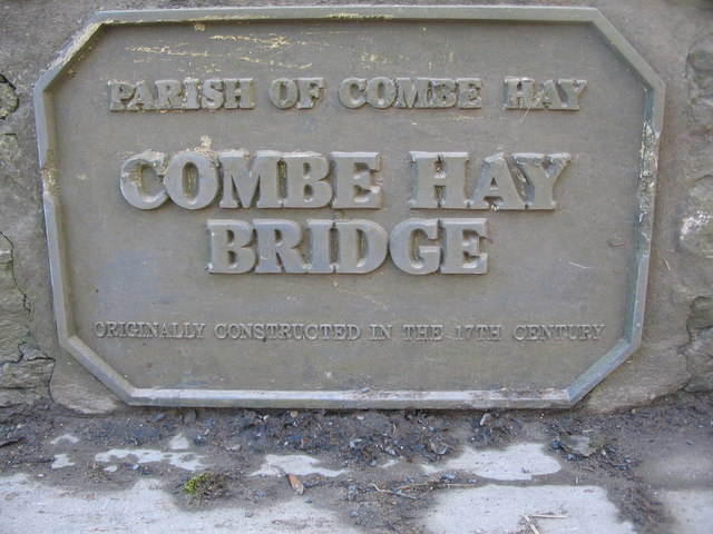 Plaque on Combe Hay Bridge