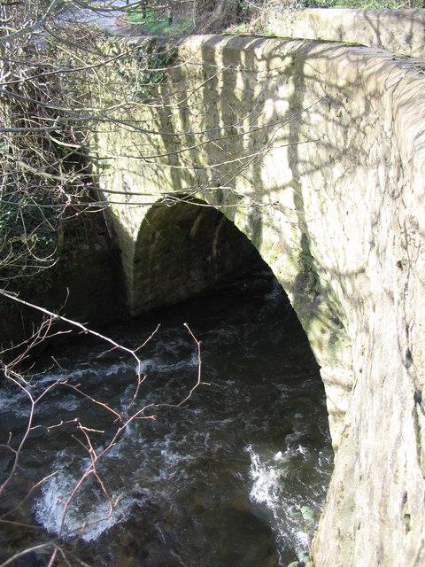 The arch of Combe Hay Bridge