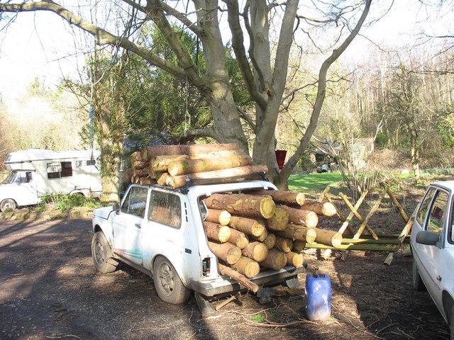 A log jam