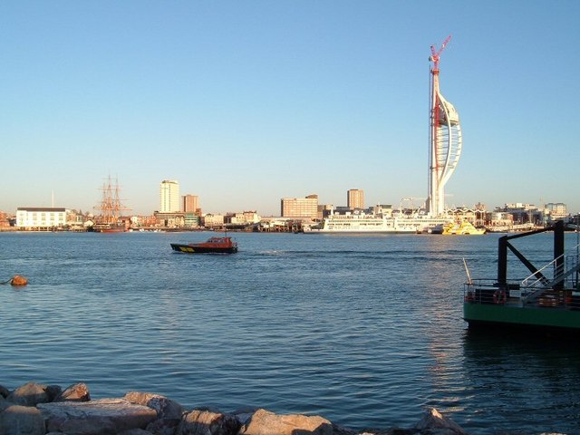 Portsmouth Harbour waterfront from Gosport