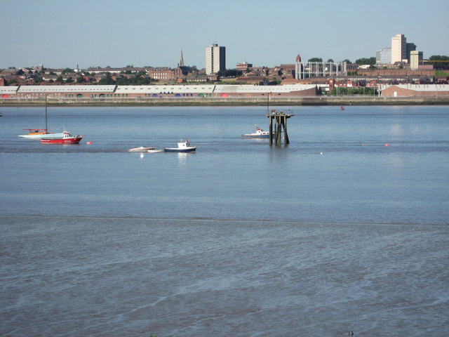 View of Liverpool (Brunswick Dock) from 16 Rock Park