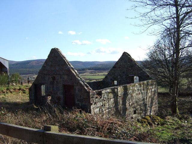 Ruined croft by Croftfoddie