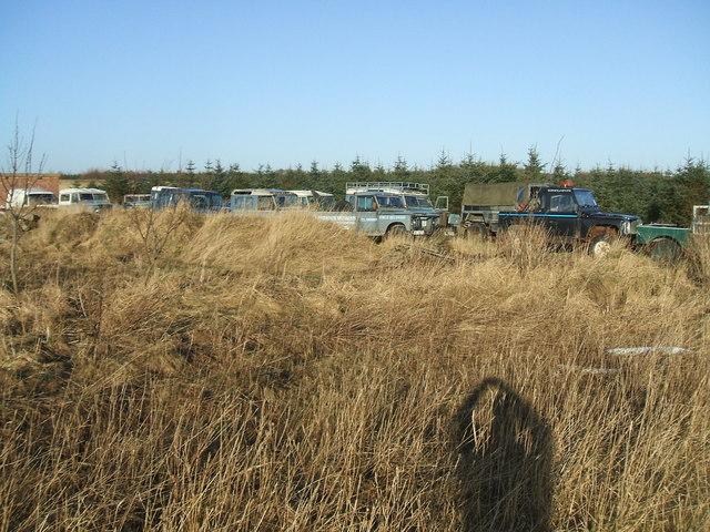Scrap vehicles at Turnalief