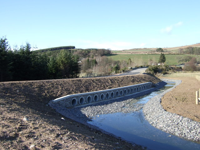 Flood-relief works at Strachan