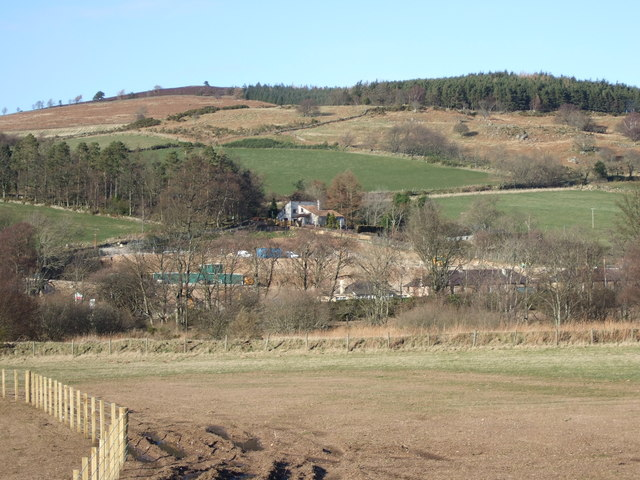 New housing development above Strachan