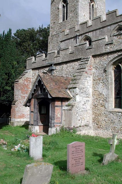 St Lawrence Church, Ardeley, Herts - Porch