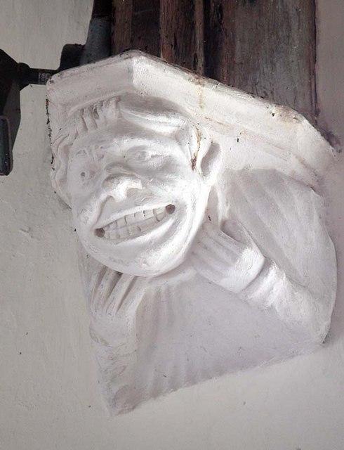 St Mary, Rushden, Herts - Corbel