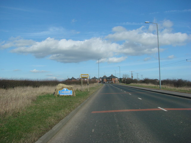 Entering Cassop on the B6291 from Quarrington Hill