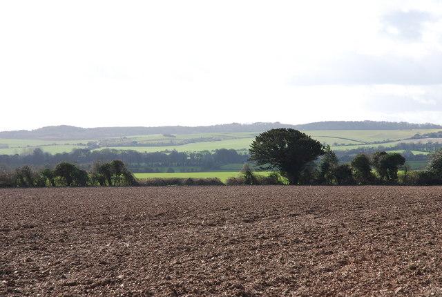 Ploughed field on Toyd Farm