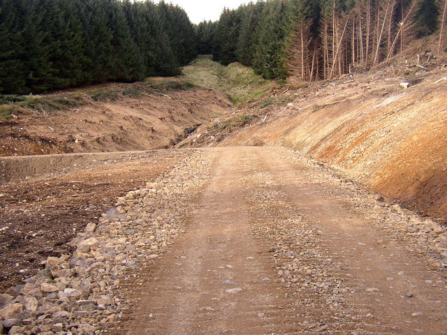 New road at Lindhope Linn, Kidland Forest.