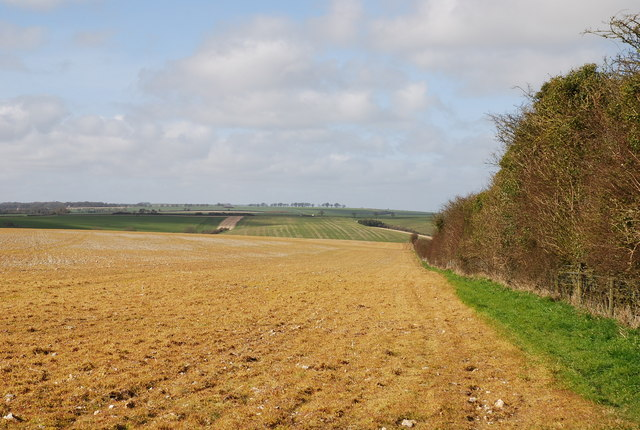 View across field on Croucheston Down