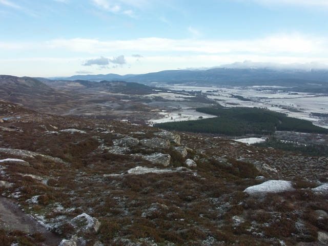 Summit of Creag Bheag looking east over Spey valley