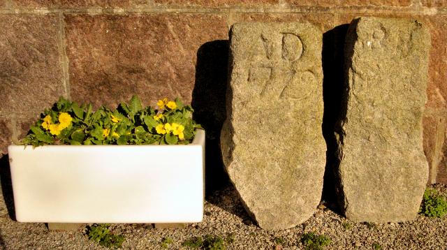 St Peter's Kirk, Peterculter. Stones to remember  workmen killed by lightning.