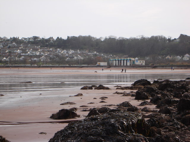 Low tide at Broadsands Beach