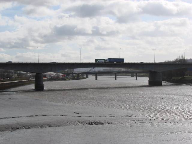 The A1 Trunk Road crossing the Tyne