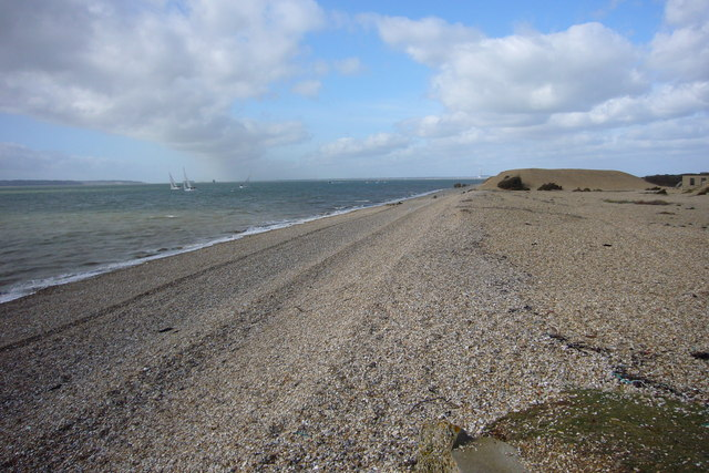 Beach and Solent at Browndown
