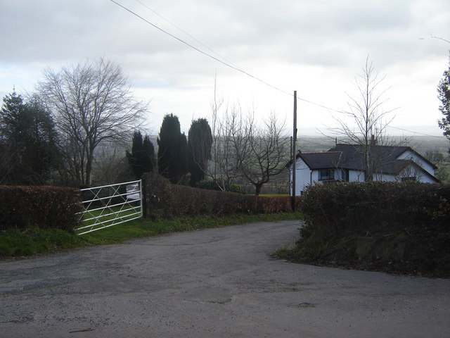 Road Junction, near Coed-y-caerau