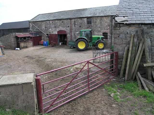 Farmyard beside Brough castle
