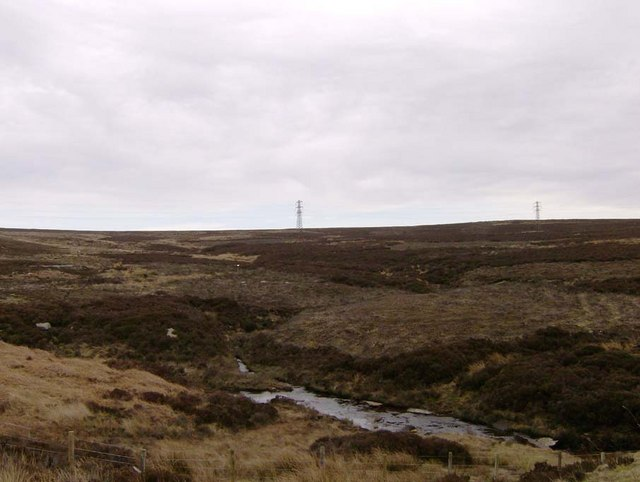 Stream off the moors between Dobbiner Head and Brocka Beck Bridge