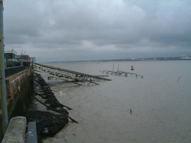 Photo 2 of 3. Pier down