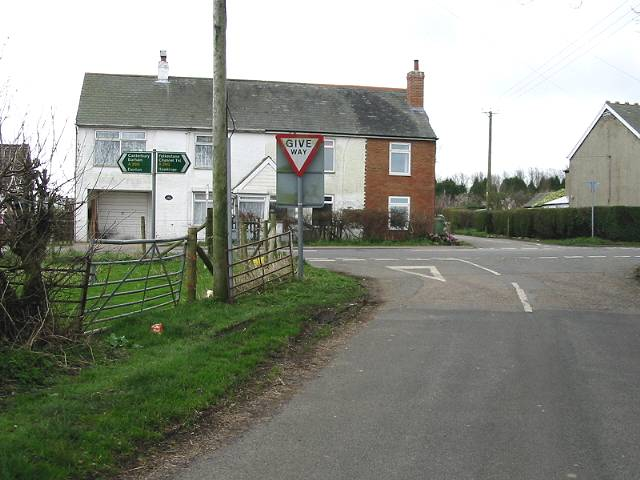 Junction with the A260 near Swingfield Minnis