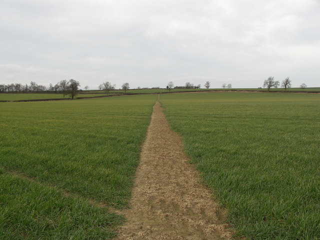 Footpath across Open Countryside.