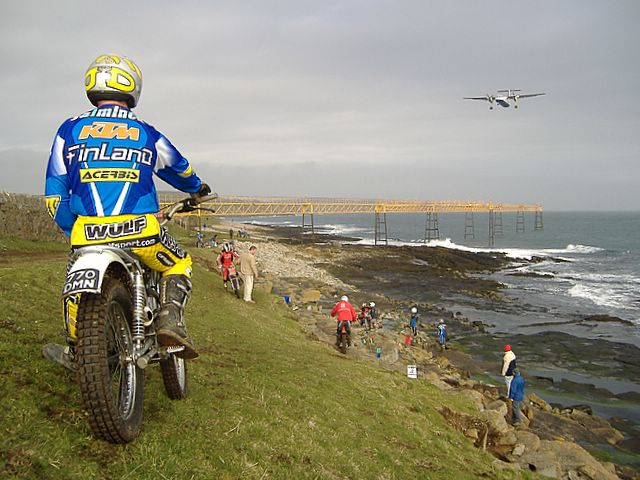 Motorbike trials, Ronaldsway, Isle of Man