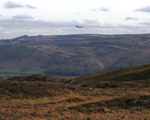 Moorland on Llantysilio Mountain, Vivod Mountain and Jet Fighter