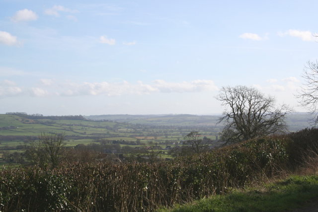 View from Maes Down Hill