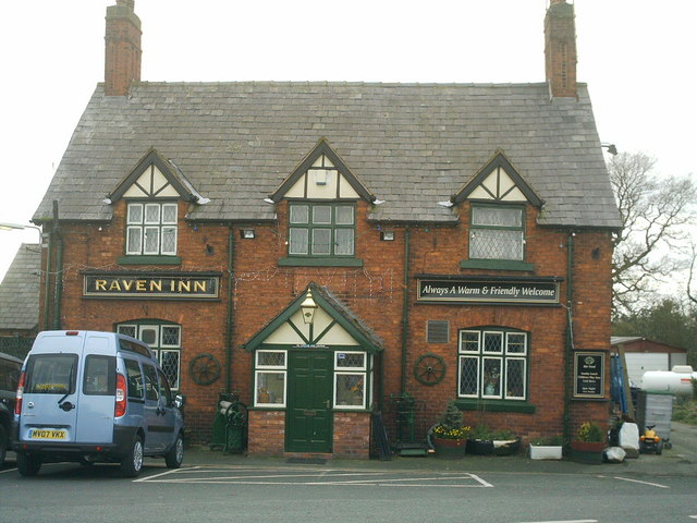 The Raven inn, on the B5074 Swanlow lane , Darnhall, nr Winsford .