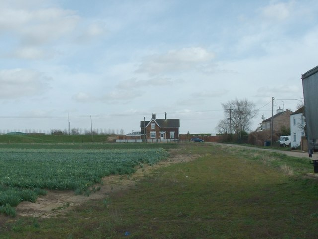 Ferry Lane, Wisbech, with the old Station house.