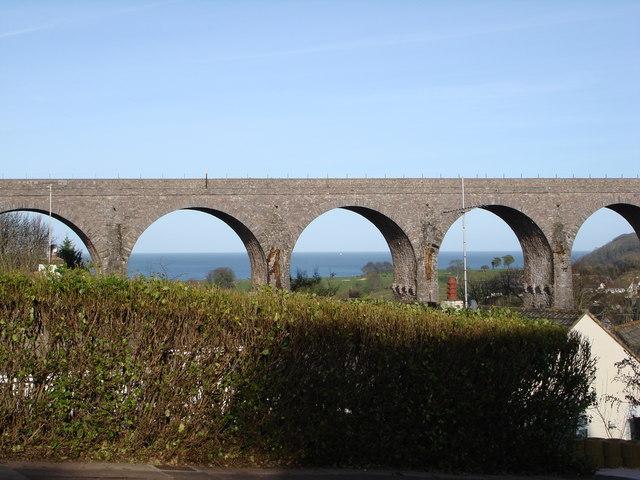 Hookhills Viaduct, near Broadsands Beach