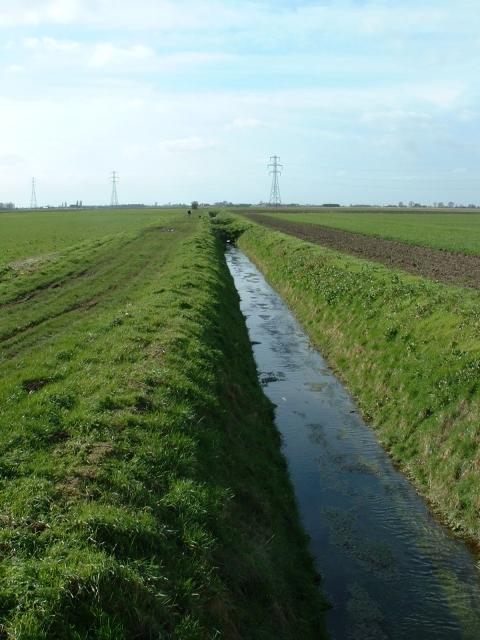 Land drain near Black Dyke, Gorefield