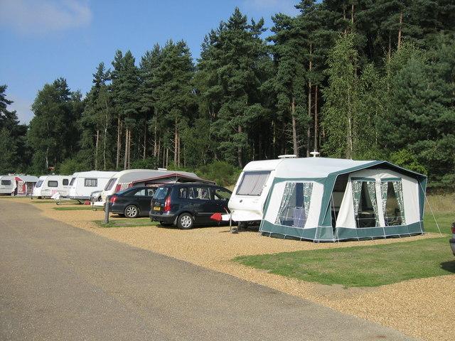 The Caravan Club Site, The Sandringham estate.