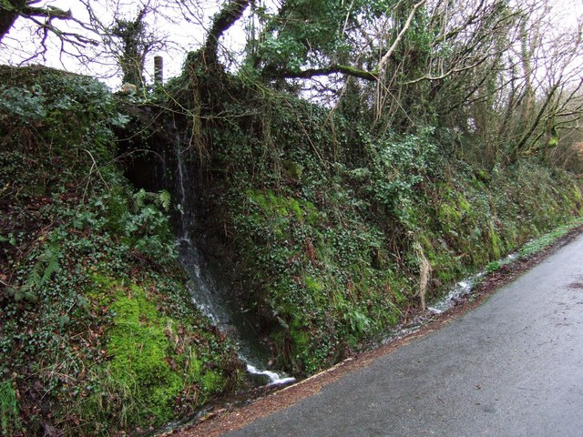 Miniature waterfall near Meldon