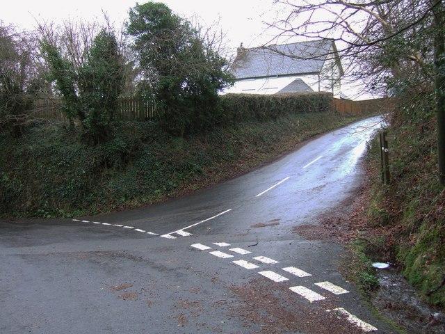 Lane junction at Meldon
