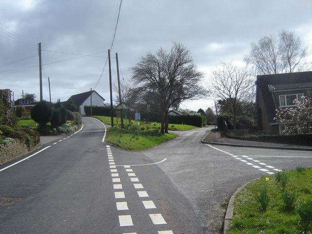 Junction of Upper and Lower Road, Llandevaud