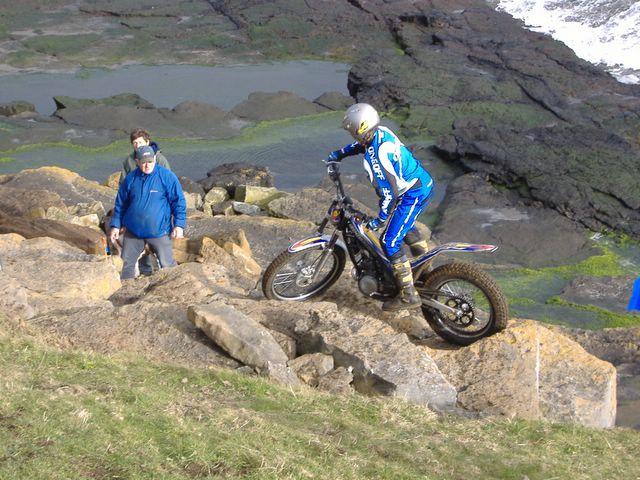Motorbike trials, Ronaldsway, Isle of Man