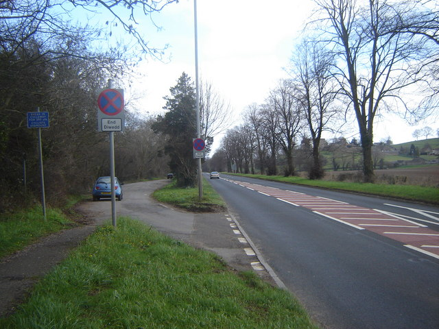 Roman Road - A48 - with lay-by