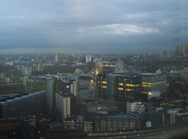 Tower Bridge and surrounding area from Guys Hospital Tower