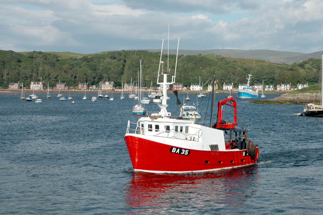 Fishing Boat arriving in Millport Bay