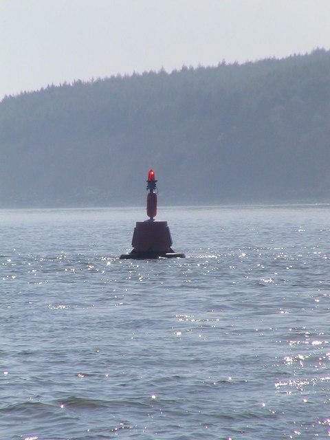 Navigation buoy in Kirkcudbright Bay