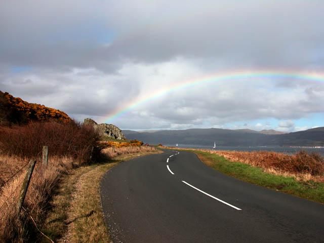 Rainbow at Lion Rock