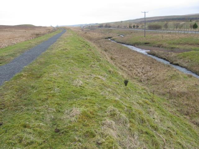 River Ayr Way, River Ayr and A70 road