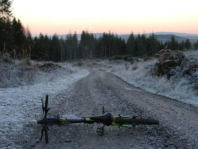 Track on Screel Hill, in hard frost