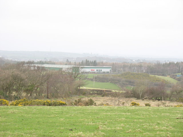 The Plas Menai Depot of The Book People/Y Criw Llyfrau taken from the Fodolydd Road